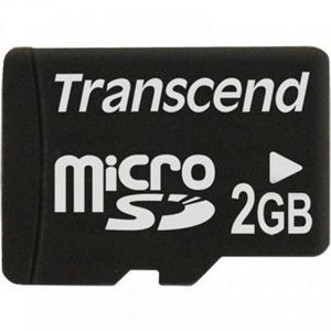 Carte Micro SD de 2Go sans boite et adapteur de Transcend