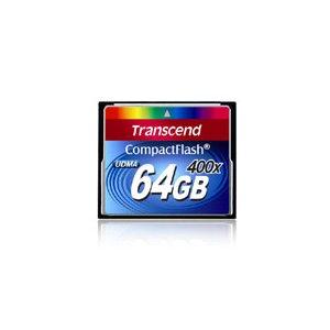 Carte Mémoire CompactFlash 400x UDMA de 64 Go de Transcend
