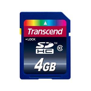 TRANSCEND 4GB SDHC  (CLASS 10)