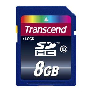 Carte Mémoire Transcend SDXC/SDHC Classe 10 de 8Go