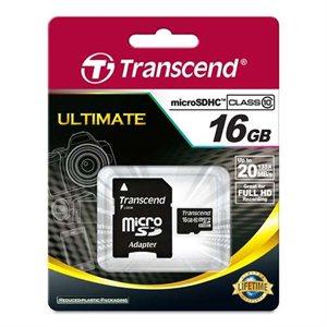 Carte microSDHC Classe 10 de 16Go de Transcend