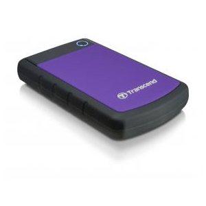 Disque dur externe Transcend de 1TB 2.5'' USB3.0 Storejet H3P avec finition anti-chocs Mauve