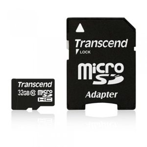 Carte microSDHC Classe 10 de 32Go de Transcend