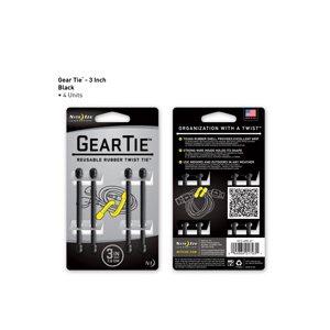 Gear Tie de 3 pouces de Nite Ize - Noir (4 unités)