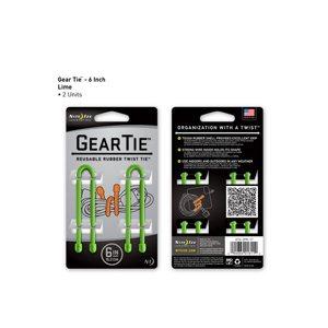 Gear Tie de 6 pouces vert lime de Nite Ize (2 unités)