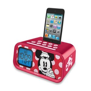 EKIDS Minnie Mouse Dual Alarm Clock and 30-Pin iPod Speaker Dock