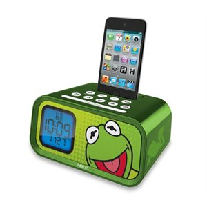 EKIDS Kermit Dual Alarm Clock and 30-Pin iPod Speaker Dock