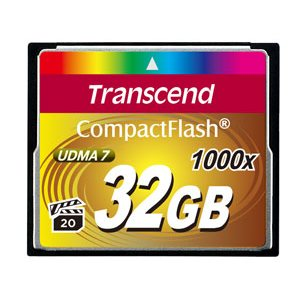 TRANSCEND 32GB Compact Flash Memory Card 1066X Ultra DMA 7