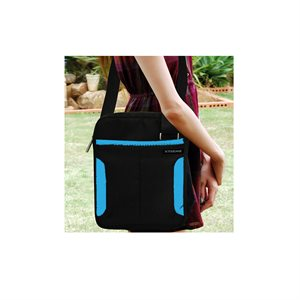 "XTREME MESSENGER BAG 10"" BLACK/BLUE"