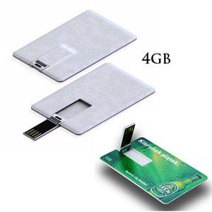 lé USB en forme carte d'affaire - 4GB - avec logo d'une couleur