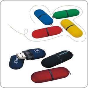 Clé USB capsule - 8GB - avec logo d'une couleur
