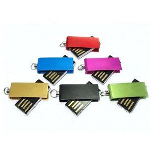 Clé USB pivotant Mini - 2Go - avec logo 1 couleur