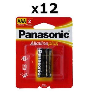 Paquet de 12 piles AAA X2 Alkaline Plus de Panasonic