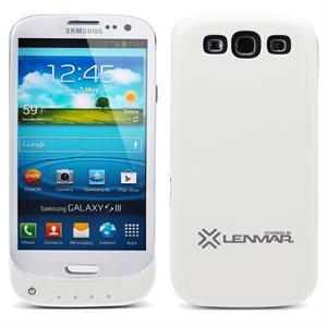 Étui à alimentation de 2 400 mAh Lenmar Pulsar pour Samsung Galaxy S3 - blanc