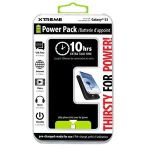 XTREME POWER PACK BATTERY BANK CASE FOR GALAXY S3