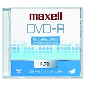 MAXELL DVD-R 4.7 RECORDABLE (JEWEL CASE) - SINGLE