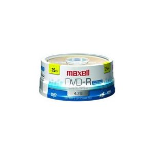 MAXELL DVD-R 4.7 RECORDABLE (SPINDLE CASE) - SPINDLE 25