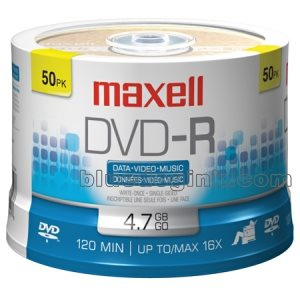 MAXELL DVD-R 4.7 RECORDABLE (SPINDLE CASE) - SPINDLE 50