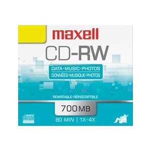 MAXELL CD-RW 700 -SLIM JEWEL CASE - SINGLE
