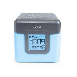 Radio-réveil FM sans-fil, USB, avec réveil double alarme et lumière de couleur changeante iHome - Blanc