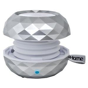 Mini haut-parleur rechargeable Bluetooth à couleur variable d'iHome - Argent