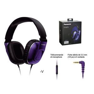 Casque d'écoute, excitateurs de 40mm - Violet