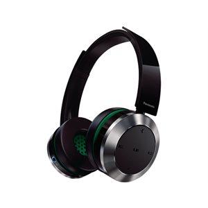 Casque d'écoute sans fil haut de gamme avec NFC et Bluetooth, excitateurs de 40mm, Batterie LI-ION de Panasonic - Noir