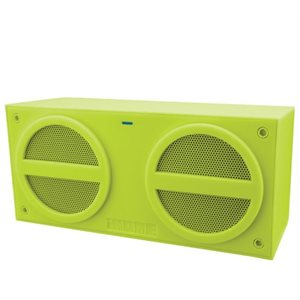 IHOME IBT24Q BLUETOOTH  STEREO MINI SPEAKER WITH RECHARGEABLE BATTERY - GREEN