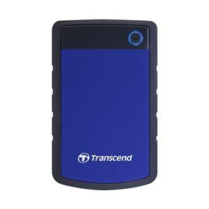 Disque dur externe Transcend de 1TB 2.5'' USB3.0 Storejet H3P avec finition anti-chocs Bleu