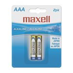 MAXELL BATTERIES AAA - 2 PACK