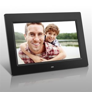 Cadre pour photos numériques 10,1 po, mémoire intégrée de 4 Go, télécommande de Aluratek