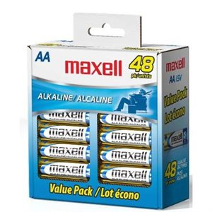 MAXELL BATTERIES AA - 48 PACK