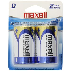 MAXELL BATTERIES D - 2 PACK