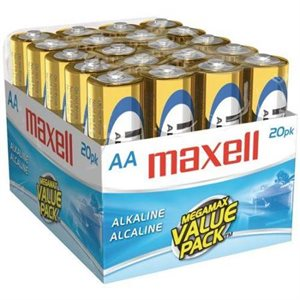 MAXELL BATTERIES AA - 20 PACK IN A BOX