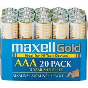 MAXELL BATTERIES AAA - 20 PACK IN A BOX