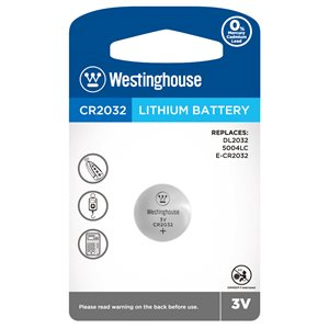 Batterie Westinghouse CR2032 3.0V lithium (button cell)
