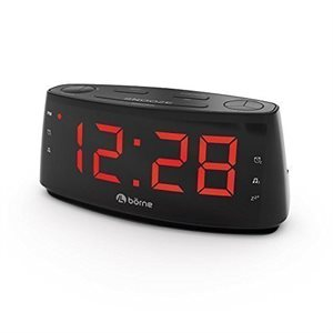 BORNE CR1830D DIGITAL STEREO AM/FM CLOCK RADIO WITH AUX IN 1,8'' LED DISPLAY BATTERY BACK UP