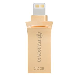 TRANSCEND 32GB JETDRIVE GO 500 USB 3.1 FOR IPHONE, IPAD OR IPOD -  GOLD