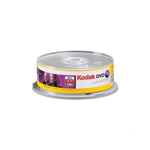 KODAK DVD-R 4.7 RECORDABLE (SPINDLE CASE) - SPINDLE 25