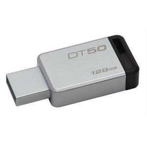 Kingston 128GB USB 3.0 DataTraveler 50 (Metal/Black) Canada Retail