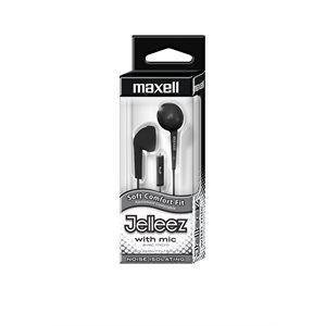 MAXELL Jelleez Earbuds with Mic - Black