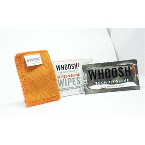 Lingettes de nettoyage d'écran de Whoosh, paquet de 12