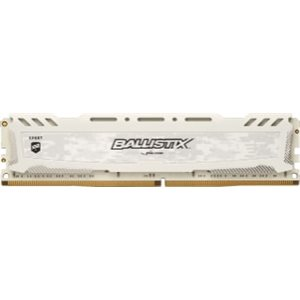 CRUCIAL BALLISTIX SPORT WHITE 8GB DDR4 2400 (PC4-19200) CL16 DR X8 UNBUFF DIMM 288PIN