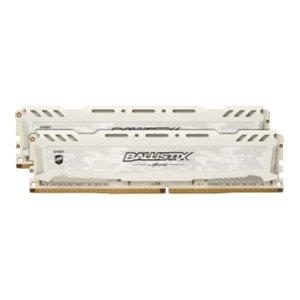 CRUCIAL BALLISTIX SPORT WHITE 8GB KIT (4GBX2) DDR4 2666 (PC4-21300) CL16 SR X8 UNBUFF DIMM 288PIN