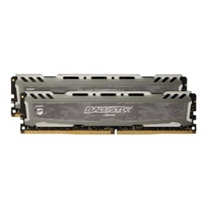 CRUCIAL BALLISTIX SPORT GREY 32GB KIT (16GBX2) DDR4 2400 (PC4-19200) CL16 DR X8 UNBUFF DIMM 288PIN