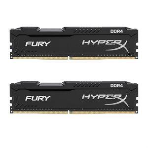 KINGSTON 16GB 2666MHz DDR4 NON-ECC CL16 DIMM (Kit of 2) 1Rx8 HyperX FURY Black