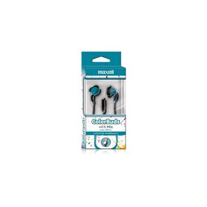 MAXELL CBM-B5 COLOR BUDS W/MIC BLUE