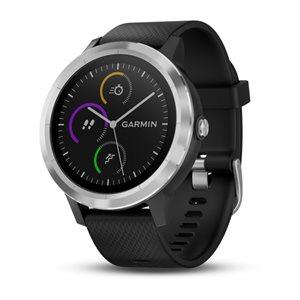 Garmin Vivoactive 3 GPS SMARTWATCH W/GARMIN PAY, WORLDWIDE  STEEL WITH BLACK SILICONE