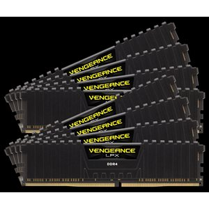 CORSAIR 128GB (KIT OF 8) 2133MHZ DDR4 DIMM 13-15-15-28 VENGEANCE LPX BLACK HEAT 1.20V