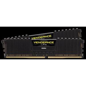 CORSAIR 16GB (KIT OF 2) 3000MHZ DDR4 DIMM 15-17-17-35 VENGEANCE LPX BLACK HEAT 1.35V